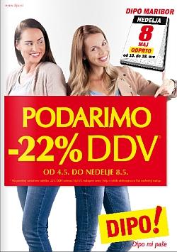 Dipo katalog Podarimo – 22 % DDV do 08. 05.