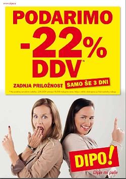Dipo katalog Podarimo – 22 % DDV