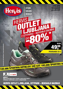 Hervis katalog Outlet Ljubljana do 10. 05.