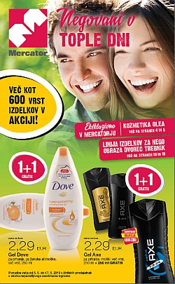 Mercator katalog Kozmetika do 17. 05.