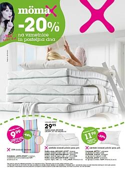 Momax katalog – 20 % na vzmetnice