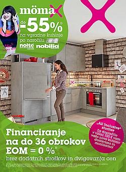 Momax katalog – 55 % na vgradne kuhinje po naročilu