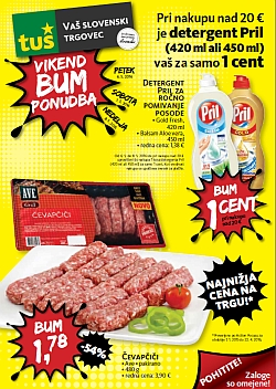 Tuš katalog Vikend BUM akcija do 08. 05.