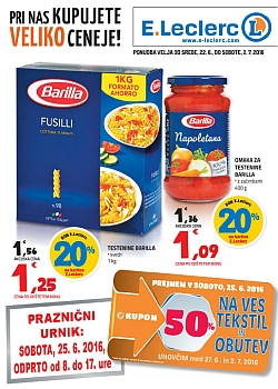 E Leclerc katalog Ljubljana do 02. 07.