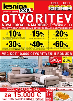Lesnina katalog Otvoritev Maribor