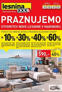 Lesnina katalog Praznujemo otvoritev v Mariboru
