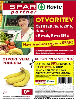 Spar katalog Otvoritev Rovte do 21. 06.