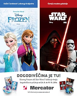 Mercator katalog Disney Frozen in Star Wars