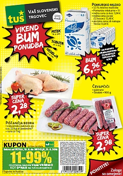 Tuš katalog Vikend BUM akcija do 21. 08.