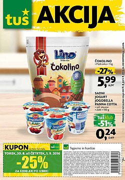 Tuš katalog trgovine in franšize do 05. 09.