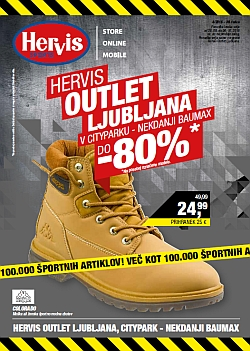 Hervis katalog Outlet Ljubljana do 04. 10.