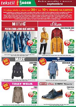 Jager katalog tekstil do 27. 09.