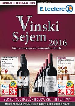 E Leclerc katalog Vinski sejem 2016