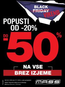 Mass akcija Black vikend do 27. 11.