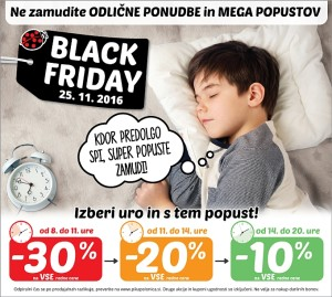 Pikapolonica akcija Black Friday 25. 11.