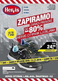 Hervis katalog Citypark Ljubljana do 13. 12.
