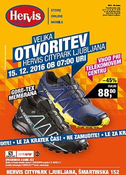 Hervis katalog Otvoritev Citypark Ljubljana