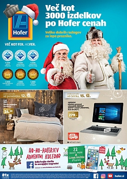 Hofer katalog od 12. 12. in od 15. 12.