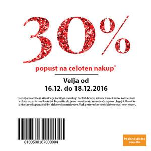 NKD akcija 30 % na celoten nakup do 18. 12.