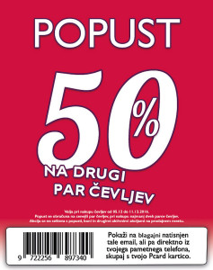 PittaRosso akcija – 50 % na drugi par čevljev do 11. 12.