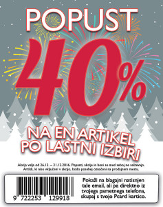 PittaRosso akcija – 40 % na en artikel do 31. 12.