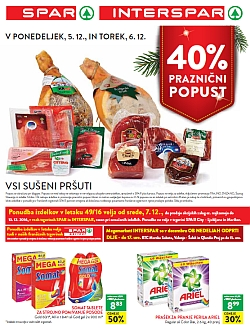 Spar in Interspar katalog do 13. 12.