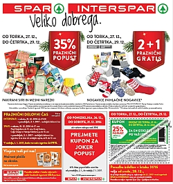 Spar in Interspar katalog do 03. 01.