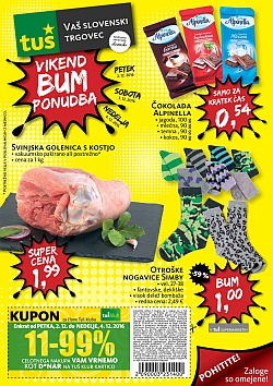 Tuš katalog Vikend BUM akcija do 04. 12.