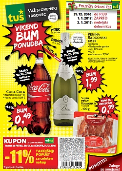 Tuš katalog Vikend BUM akcija do 31. 12.