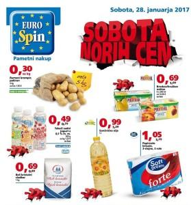 Eurospin sobota norih cen 28. 01.