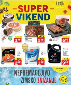 Lidl akcija Super vikend do 15. 01.