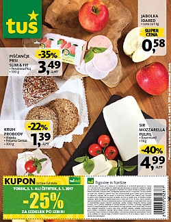 Tuš katalog trgovine in franšize do 09. 01.