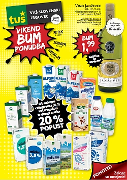 Tuš katalog Vikend BUM akcija do 08. 01.