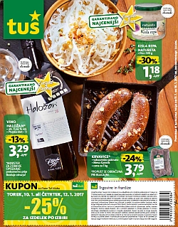 Tuš katalog trgovine in franšize do 16. 01.