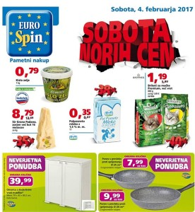 Eurospin sobota norih cen 04. 02.