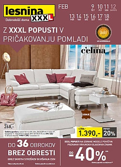 Lesnina katalog XXL popusti do 18. 02.