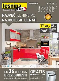 Lesnina katalog Kuhinje do 25. 02.