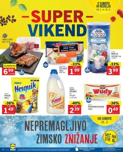 Lidl akcija Super vikend do 19. 02.