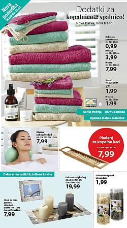 NKD katalog – dodatki za kopalnico in spalnico