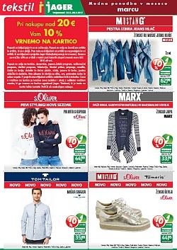 Jager katalog tekstil do 21. 03.