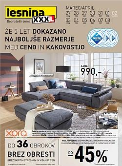 Lesnina katalog Maribor, Ljubljana in Levec do 08. 04.