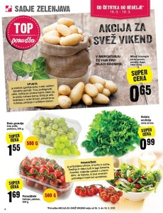 Mercator akcija za svež vikend do 19. 03.