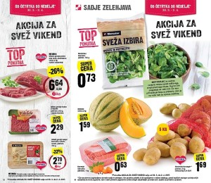 Mercator akcija za svež vikend do 02. 04.