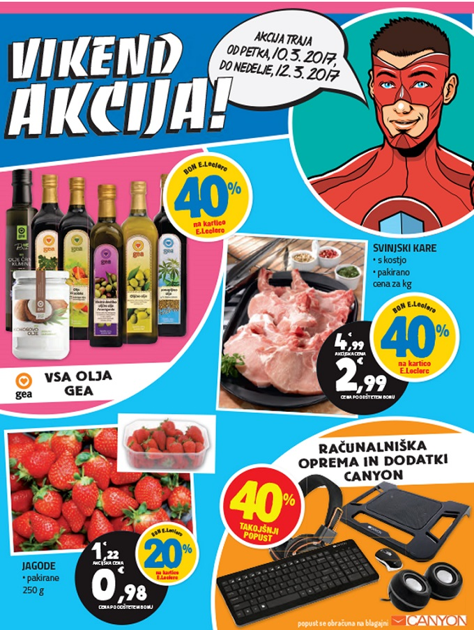 E Leclerc vikend akcija do 12.3.