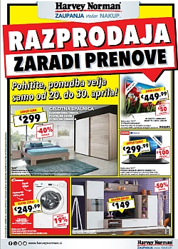 Harvey Norman katalog Razprodaja do 30. 04.