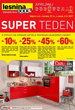 Lesnina katalog Super teden do 02. 05.
