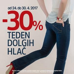 Mana akcija – 30 % na dolge hlače do 30. 04.