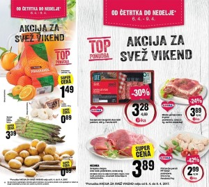 Mercator akcija za svež vikend do 09. 04.