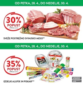 Spar in Interspar vikend akcija do 30. 04.