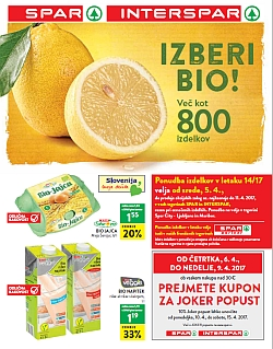 Spar in Interspar katalog do 11. 04.